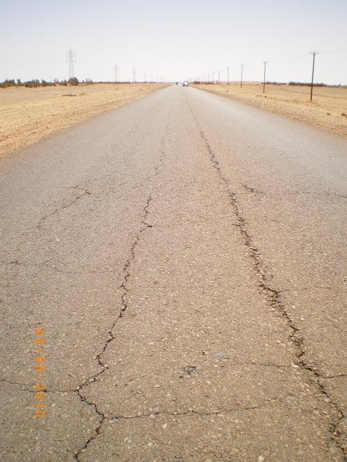 Libya - Longitudinal Cracking