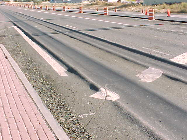 What is rutting in roads?