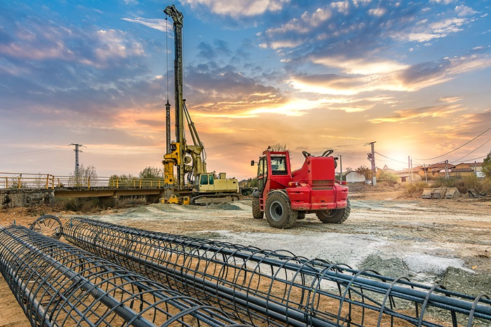 What are the types of piles and their construction methods?